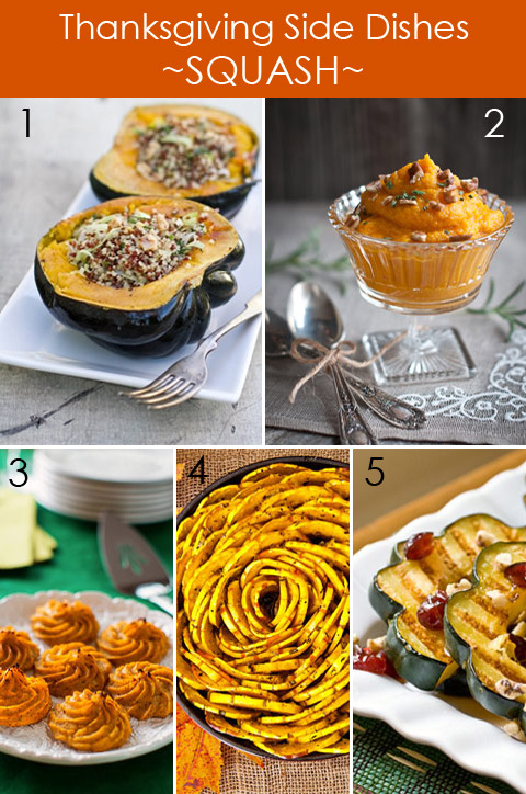Thanksgiving Side Dishes - Squash and Gourd Recipes
