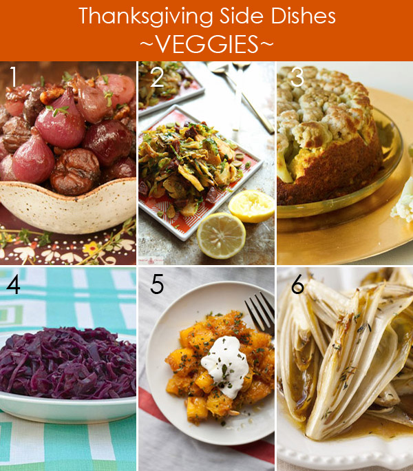 Thanksgiving Side Dishes - Veggie Recipes
