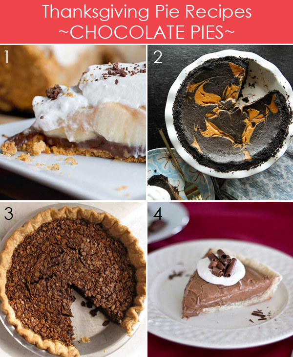 Thanksgiving Chocolate Pie Recipes plus 25 more delicious pies for Thanksgiving