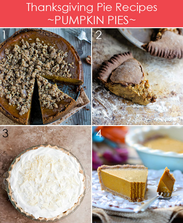 Thanksgiving Pumpkin Pie Recipes plus 25 more delicious pies for Thanksgiving