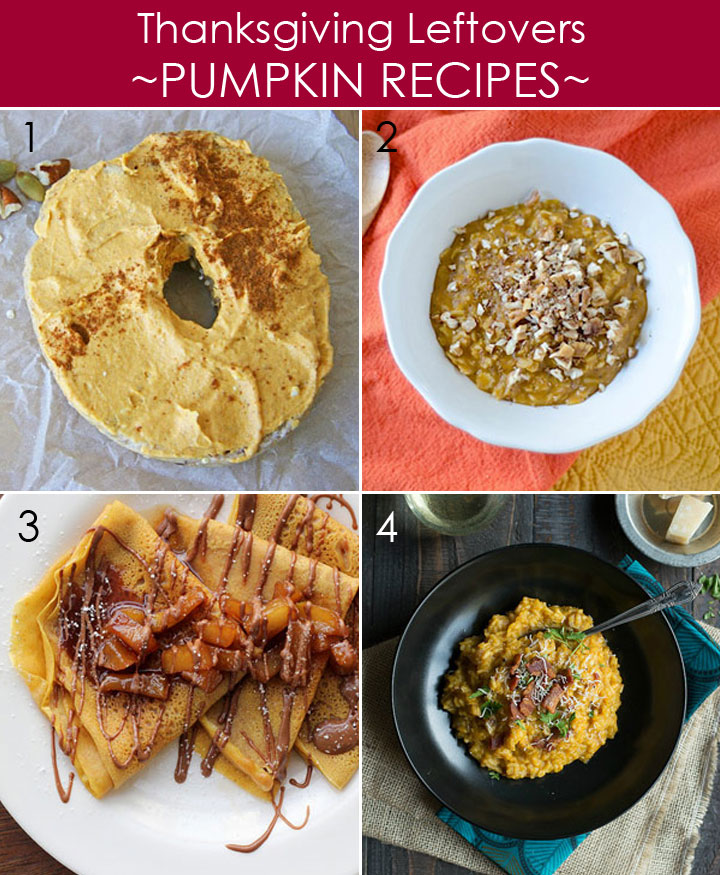 Thanksgiving Leftovers Recipes with Pumpkin Puree plus 20 other ways to use leftovers