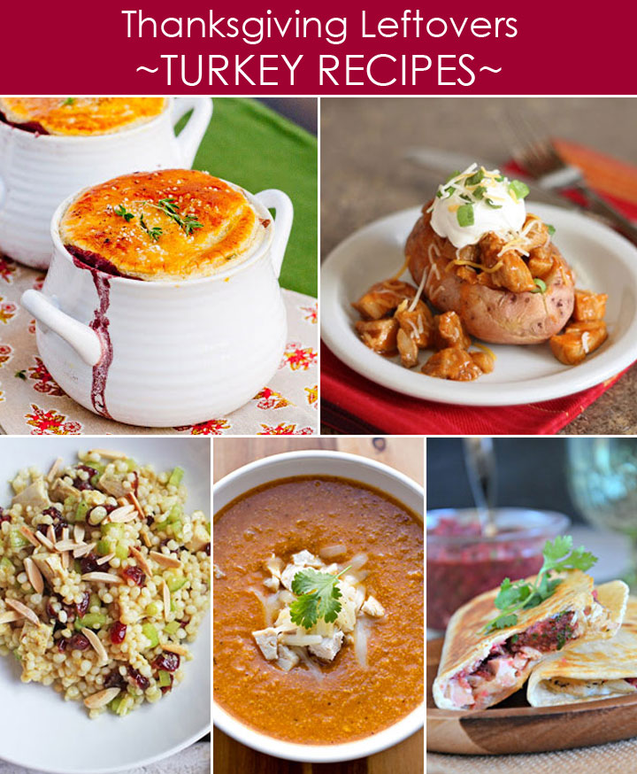 Thanksgiving Leftovers Recipes with Turkey plus 20 other ways to use leftovers