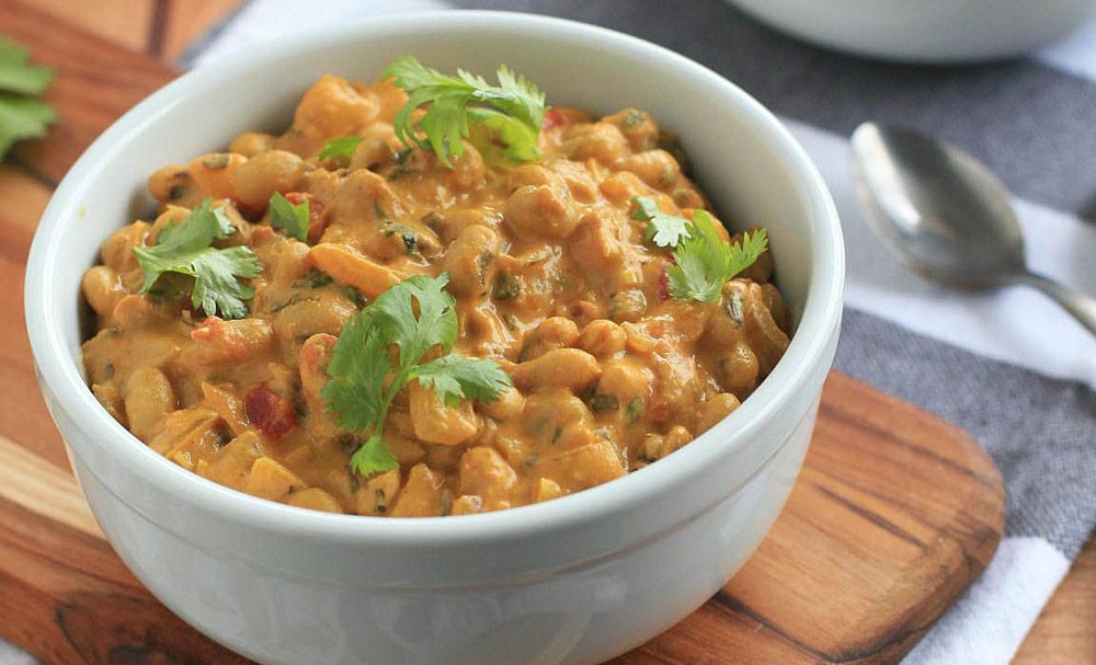 Creamy Goan Black-Eyed Pea Curry - Lucky New Year's Recipe