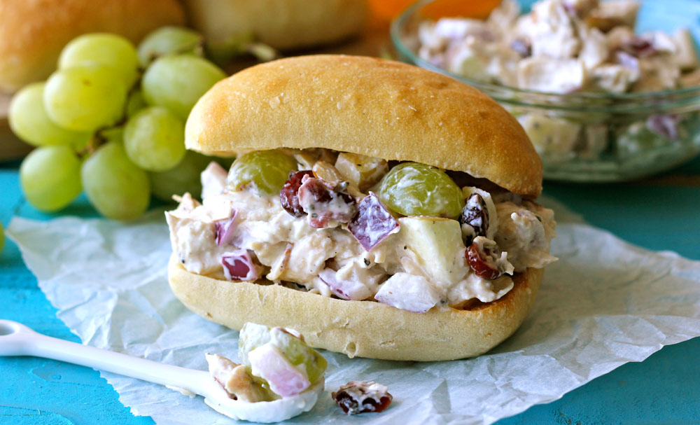 Lightened-Up Greek Yogurt Chicken Salad Sandwich