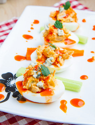 Buffalo Chicken Deviled Eggs Recipe