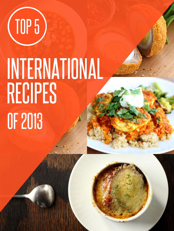 Top 5 World Cuisine Recipes of 2013 on NoshOn.It