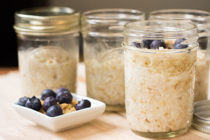 Make Ahead Steel Cut Oats -Fill the Jars and Store in the Fridge