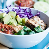 Pan-Seared Cumin Lime Barramundi Rice Bowls