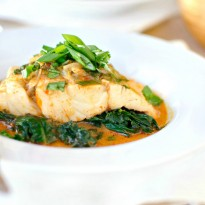 Thai Coconut Curry Poached Barramundi