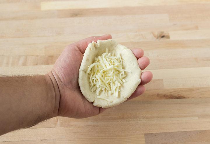 Adding Cheese to Pupusa Dough