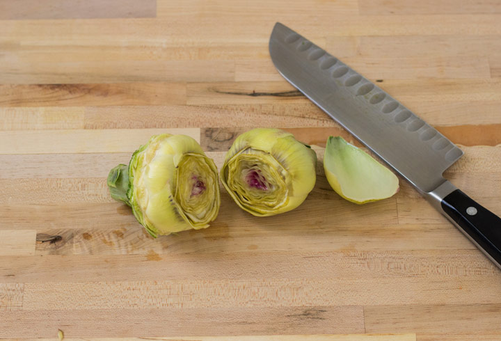 p Artichokes: Cut off the Top