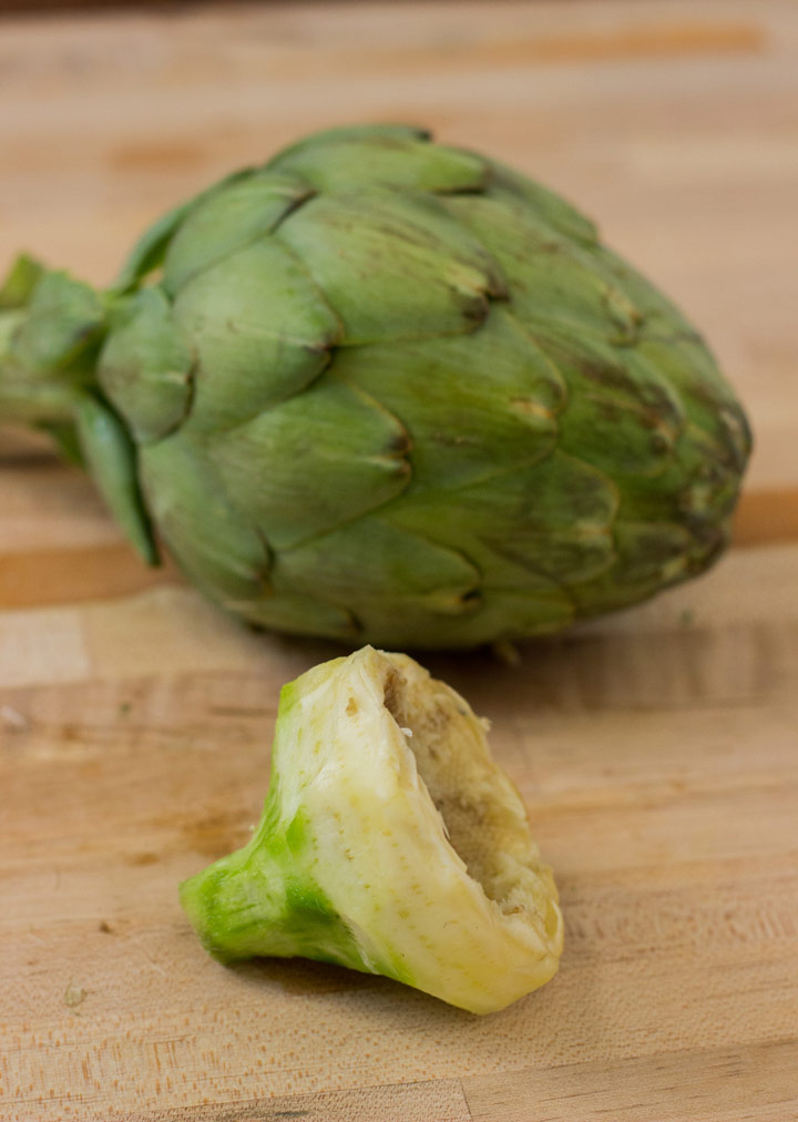 Finished, Peeled Artichoke