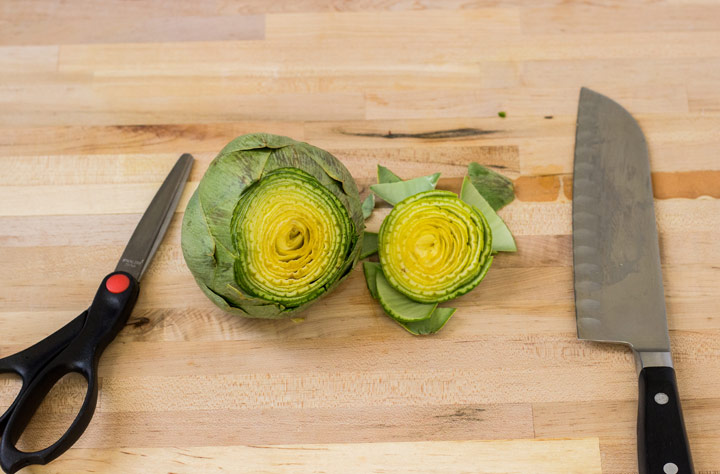 How to Cut Artichokes: Cut off the Top