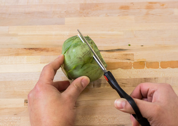 How to Cut Artichokes: Cut off the Prickly Leaves