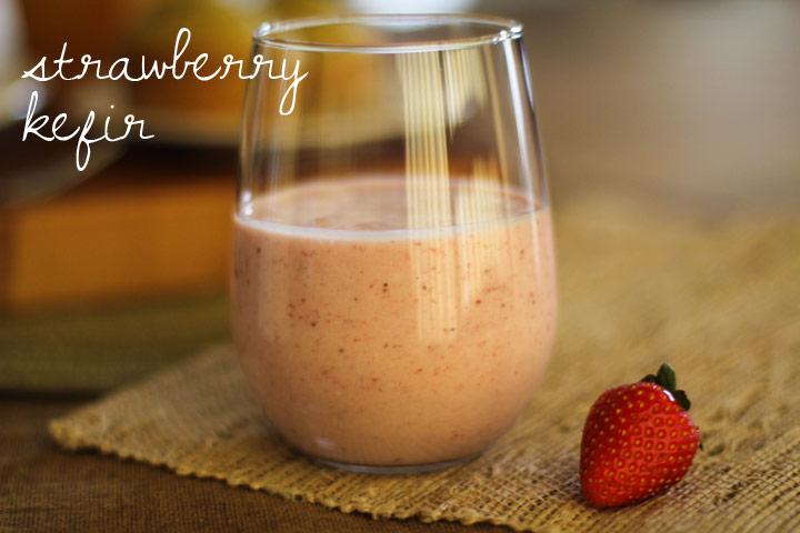Homemade Strawberry Kefir