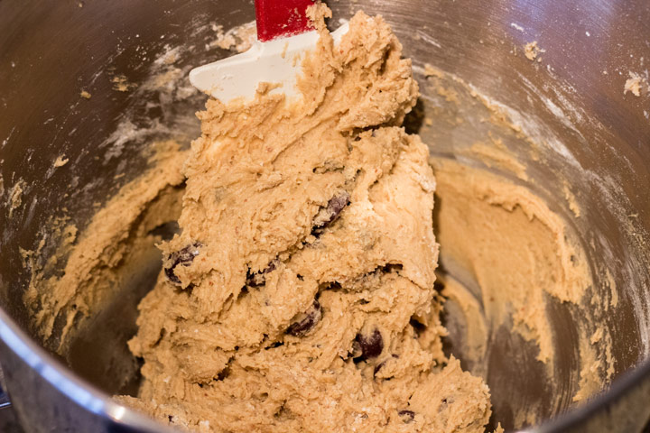 Our Favorite Chocolate Chip Cookies - folding dry ingredients
