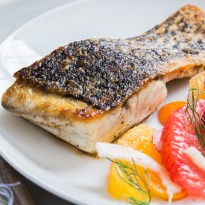 Crispy Skinned Barramundi with Citrus Fennel Salad