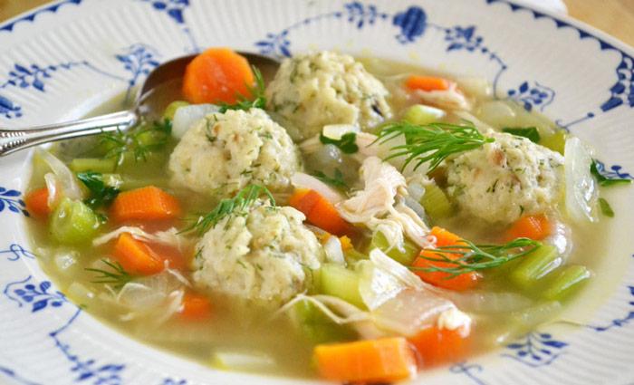 Dilled Matzo Ball Soup