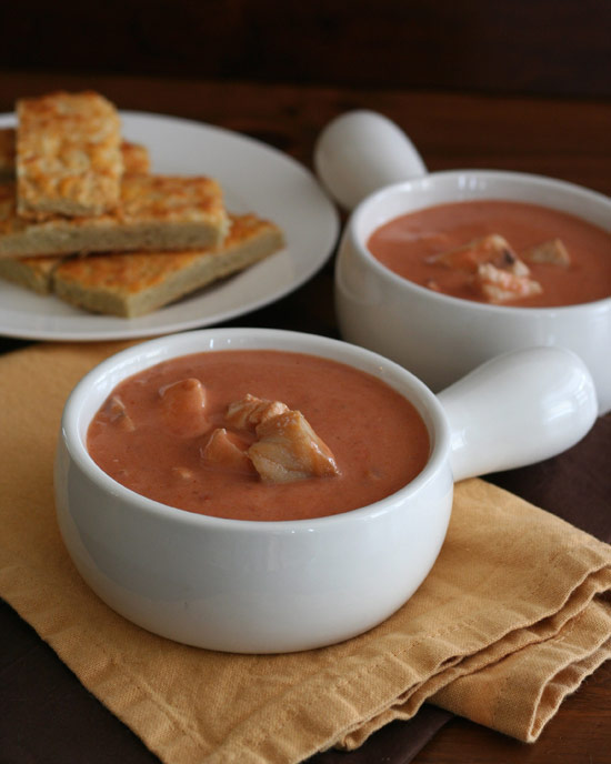 Spicy Tomato Barramundi Bisque