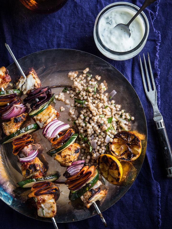 Moroccan fish skewers with barramundi recipes noshon it for Barramundi fish taste