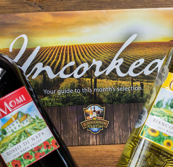 Uncorked Brochure from the California Wine Club