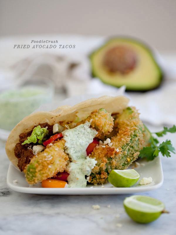 Fried Avocado Tacos Recipe