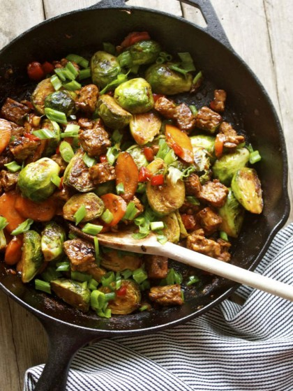 Brussels Sprout and Tempeh Stir Fry Recipe