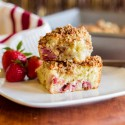 Strawberry Greek Yogurt Coffee Cake with Granola Streusel
