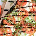 Roasted Garlic Caprese Flatbread