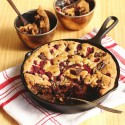 Chocolate Raspberry Skillet Cookie