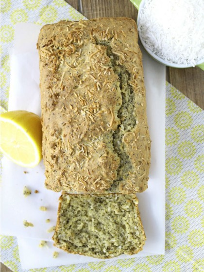 Gluten Free Coconut Lemon Poppy Seed Loaf