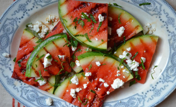 Grilled Watermelon Salad with Feta | Recipes | NoshOn.It