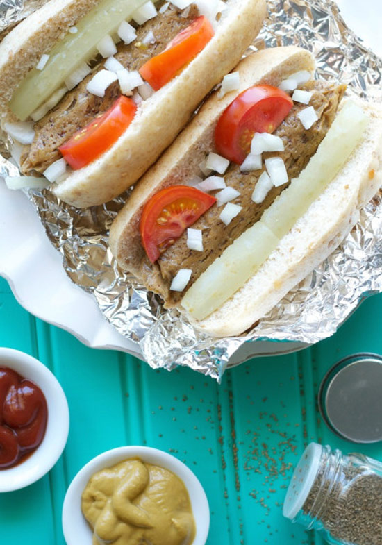 Instead of traditional hot dogs, make these Seitan Hot Dogs