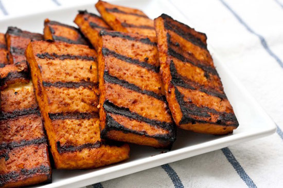 ... can chicken, make this Beer Grilled Tofu with Beer Baked French Fries