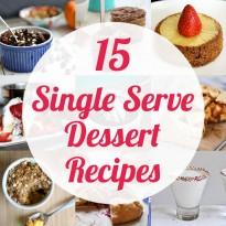 15 Single Serve Dessert Recipes