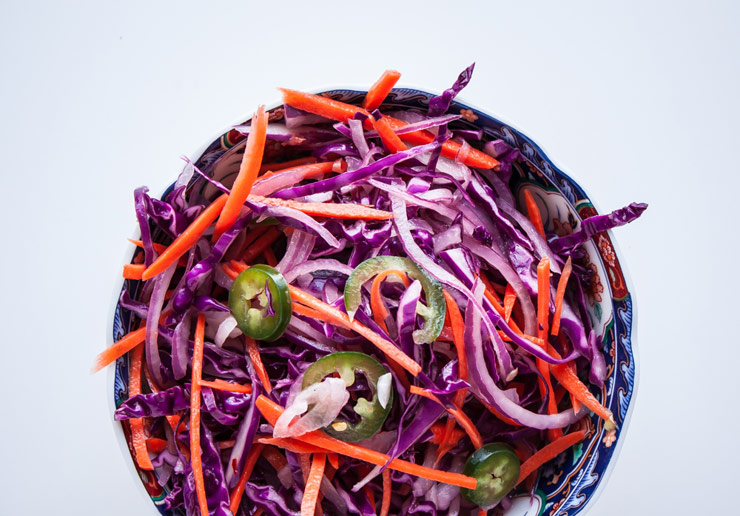 Tangy Coleslaw for Cauliflower Steak Burgers