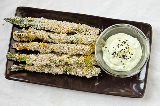 Sesame Asparagus Fries with Wasabi Mayo