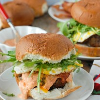 Bacon-and-Egg Cheese Breakfast Burger