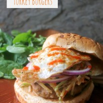 Asian Slaw Turkey Burgers