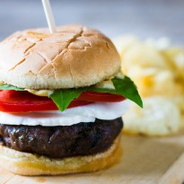 Caprese Burger with Balsamic Aioli
