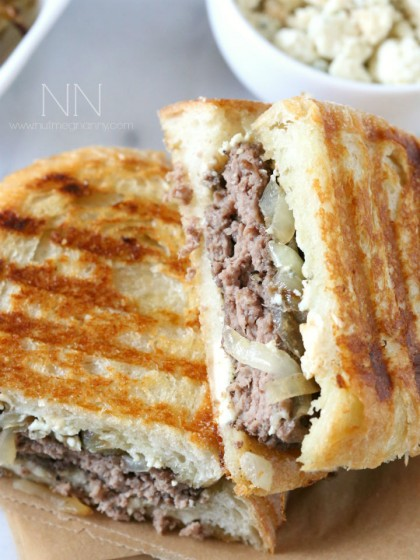 Smoked Blue Cheese Patty Melt