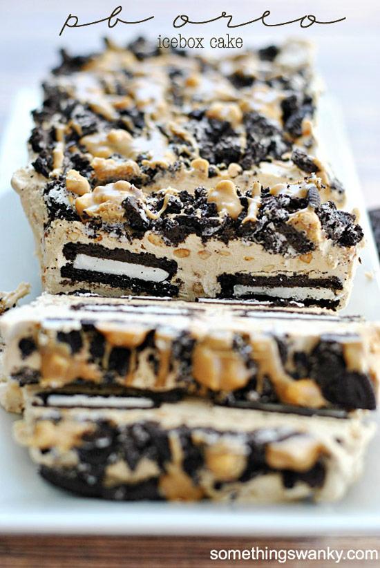 Peanut Butter Orero Icebox Cake