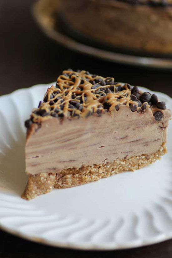 Chocolate Peanut Butter Swirl Icebox Cake