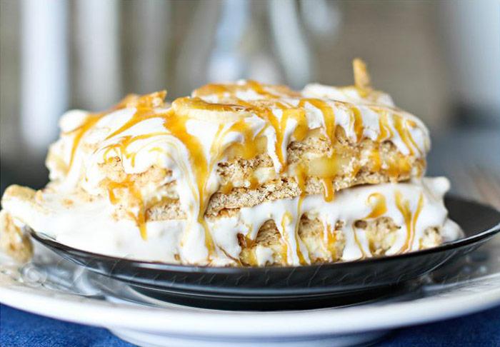 Banana Caramel Icebox Cake