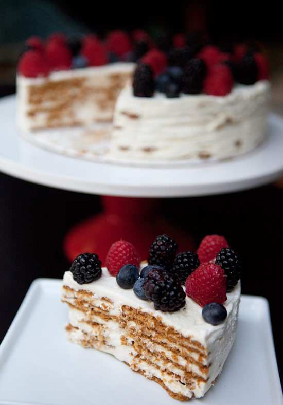 Almond Berry Icebox Cake