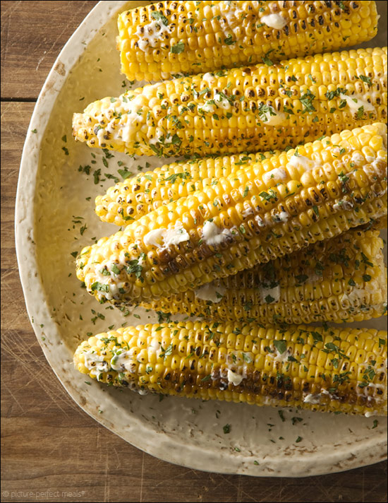 Grilled Corn with Smoky Peach Butter
