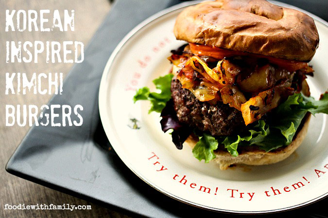 Korean Inspired Kimchi Burger with Spicy Mayo