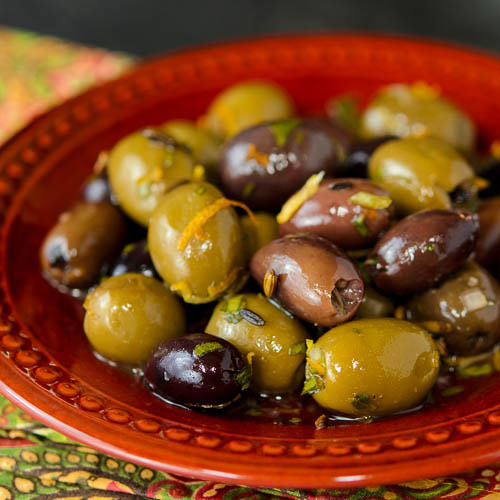 Herb and Citrus Marinated Olives