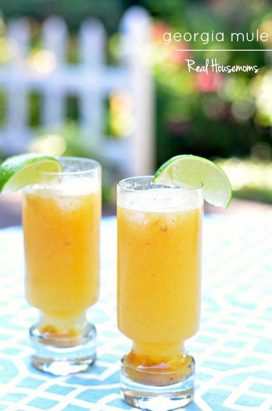 Ginger beer + Vodka + Lime + Peach = Georgia Mule