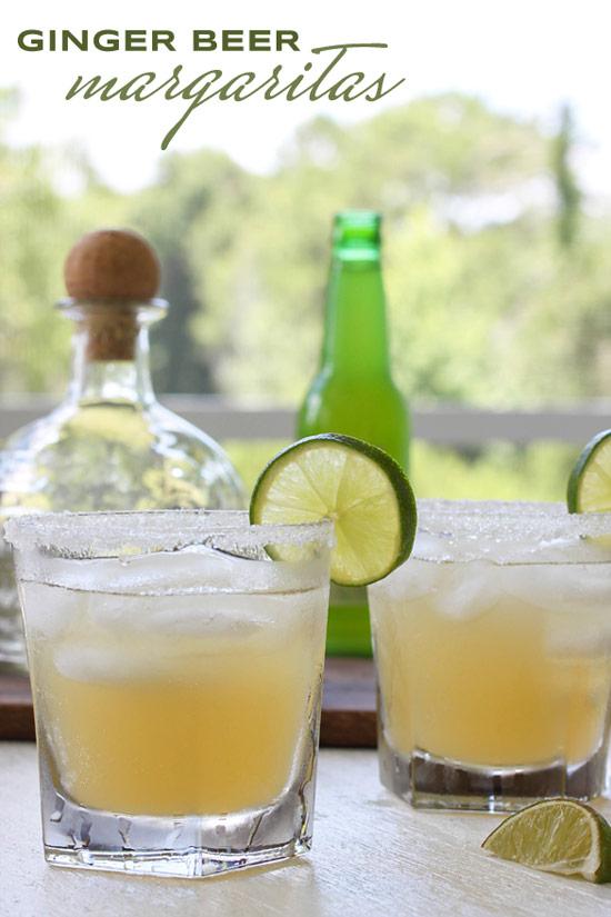Ginger beer + Tequila + Lime + Sweetener = Ginger Margarita